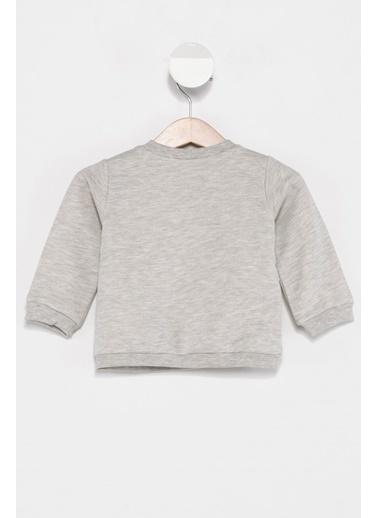 DeFacto Kız Bebek Unicorn Baskılı Sweatshirt Gri